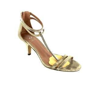 Vince Camuto Rose Gold Metalic T-Strap Size 8M